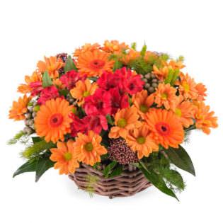 Цветы в корзинке «Акварель»